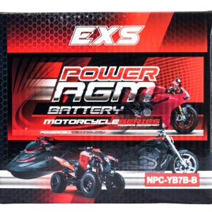 Power AGM NPC-YB7B-B Motorcycle Battery